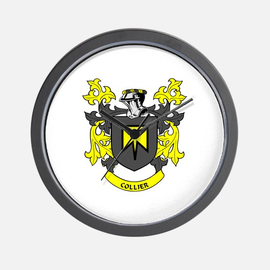COLLIER Coat of Arms Wall Clock