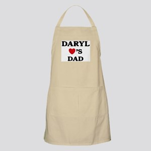 Daryl loves dad BBQ Apron