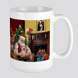 Santa Claus and Yorkshire Terrier Large Mug