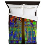 Technicolor Stained Glass Queen Duvet