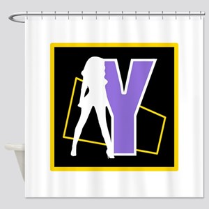 Naughty Initial Design (Y) Shower Curtain
