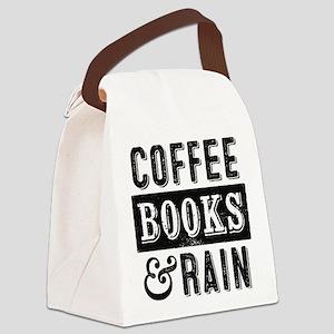 Coffee Books and Rain Canvas Lunch Bag