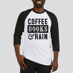 Coffee Books and Rain Baseball Jersey