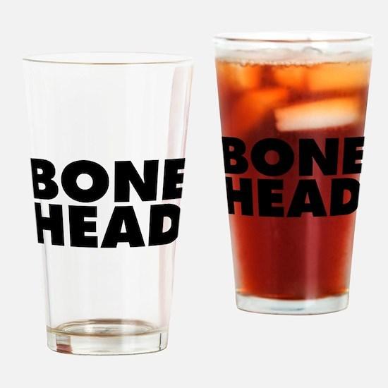 Bonehead Drinking Glass