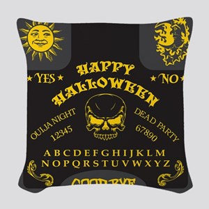 Ouija Board - Halloween Edition Woven Throw Pillow