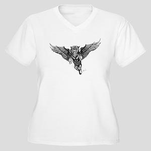 Flying Tiger Women's Plus Size V-Neck T-Shirt
