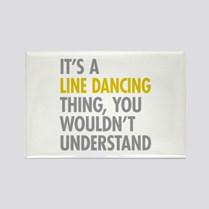 Line Dancing Thing Rectangle Magnet