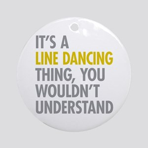 Line Dancing Thing Ornament (Round)