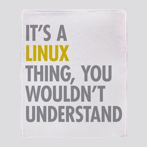 Its A Linux Thing Throw Blanket