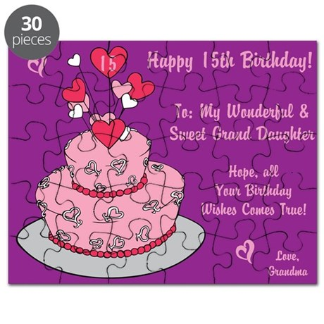Happy 15th Birthday Card Puzzle From Grandma By Itsallinthename