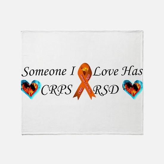 Someone I Love Has CRPS RSD Ribbon 3 Throw Blanket