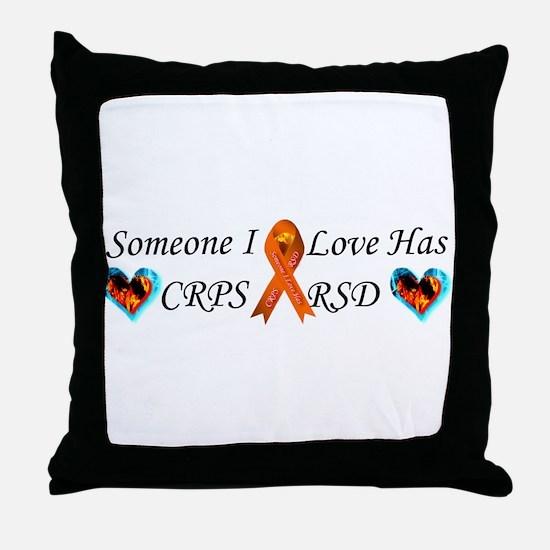 Someone I Love Has CRPS RSD Ribbon 3 Throw Pillow
