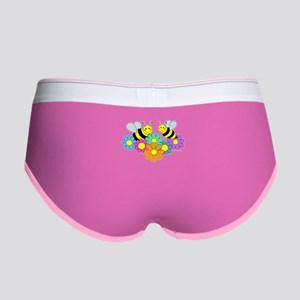 Bumble Bees Flowers Design Women's Boy Brief