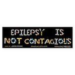 Epilepsy Is Not Contagious Sticker (Bumper 10 pk)