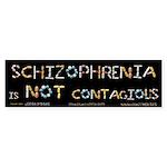 Schizophrenia Is NOT Contag Sticker (Bumper 10 pk)