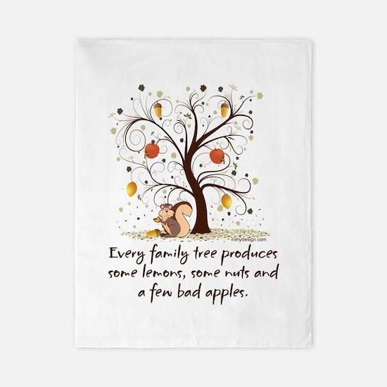 Funny Family Tree Saying Design Twin Duvet