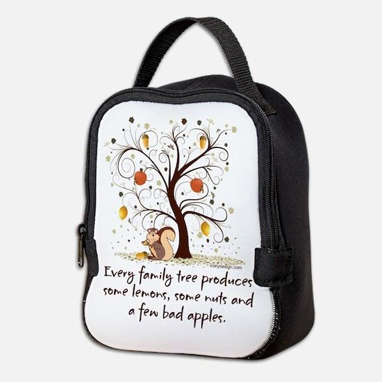 Funny Family Tree Saying Design Neoprene Lunch Bag