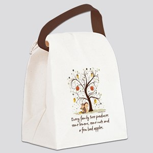 Funny Family Tree Saying Design Canvas Lunch Bag