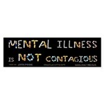 Mental Illness Is NOT Conta Sticker (Bumper 50 pk)