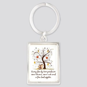 Funny Family Tree Saying Design Keychains