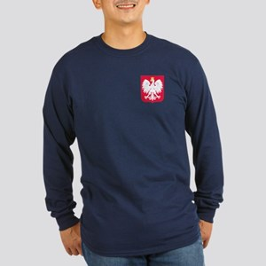 Poland Coat of Arms Long Sleeve Dark T-Shirt
