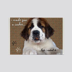 St Bernard Puppy Cookie Photo Magnets