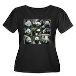 Bear col Women's Plus Size Scoop Neck Dark T-Shirt