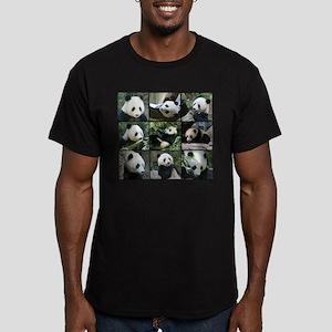 Bear collage Men's Fitted T-Shirt (dark)