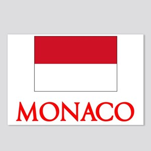 Monaco Flag Design Postcards (Package of 8)