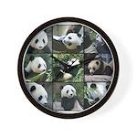 Bear collage Wall Clock
