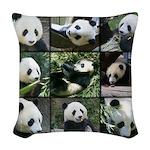 Bear collage Woven Throw Pillow
