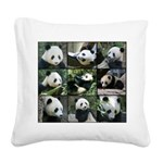 Bear collage Square Canvas Pillow