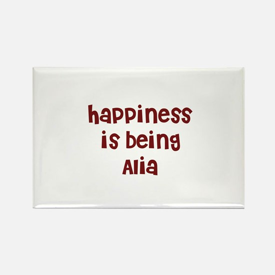 happiness is being Alia Rectangle Magnet