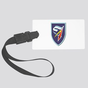 7th-Armored-Brigade-No-Text Large Luggage Tag