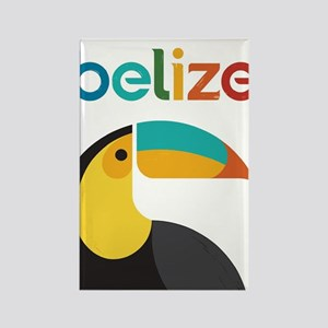 Belize Vintage Travel Poster With Toucan Magnets