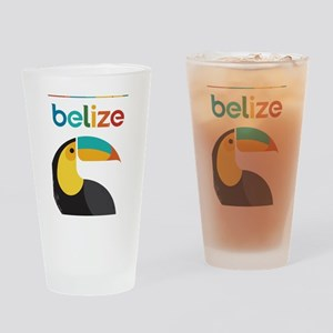 Belize Vintage Travel Poster with Toucan Drinking