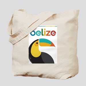 Belize Vintage Travel Poster with Toucan Tote Bag