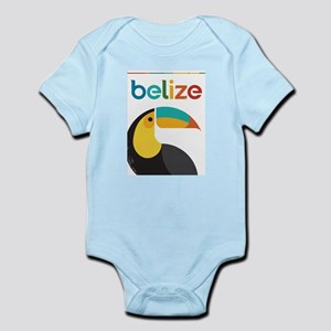 Belize Vintage Travel Poster with Toucan Body Suit