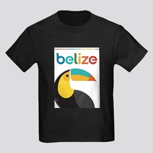 Belize Vintage Travel Poster with Toucan T-Shirt