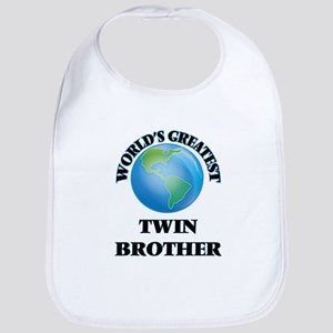 World's Greatest Twin Brother Bib