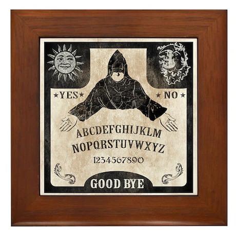 Vintage Ouija Board Framed Tile & Ouija Board Wall Art - CafePress