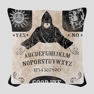 Vintage Ouija Board Woven Throw Pillow