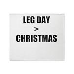 Leg Day > Christmas Throw Blanket