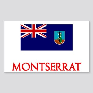 Montserrat Flag Design Sticker
