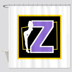 Naughty Initial Design (Z) Shower Curtain