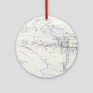 LA antique map. Ornament (Round)
