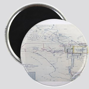 LA antique map. Magnet