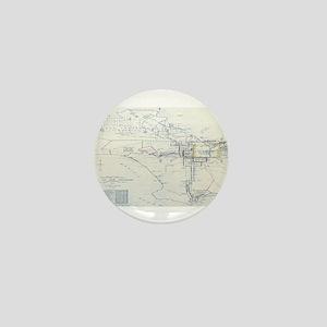 LA antique map. Mini Button