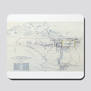 LA antique map. Mousepad