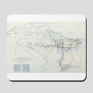 LA antique map. Mousepad